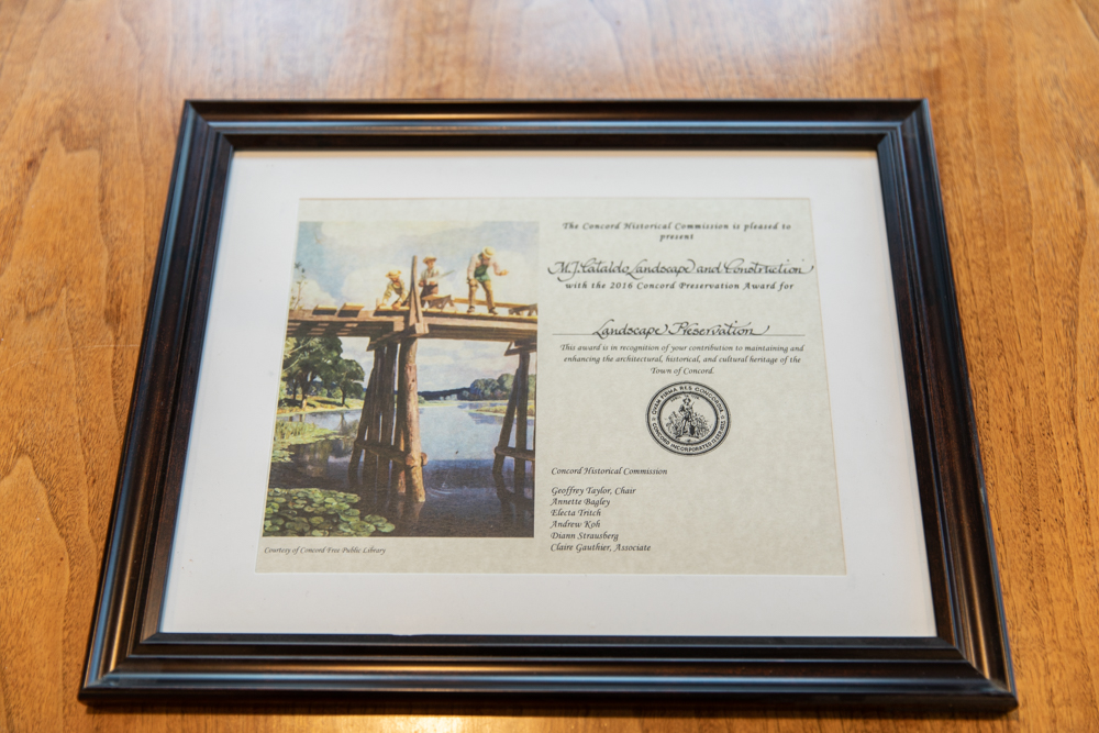 Award – Concord Historical Commission Landscape Preservation