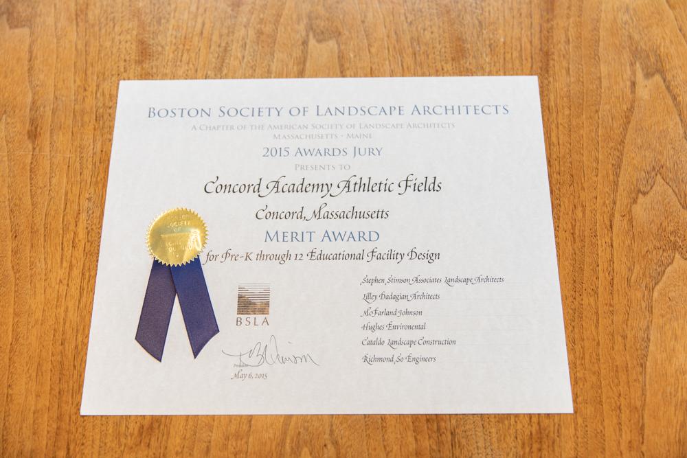 Merit Award from Boston Society of Landscape Architects