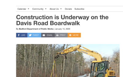Construction Underway at Davis Road Boardwalk